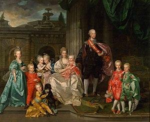 Maria Luisa of Spain - Maria Luisa, her husband Grand Duke Leopold I, and their children (by Johan Zoffany, 1776)