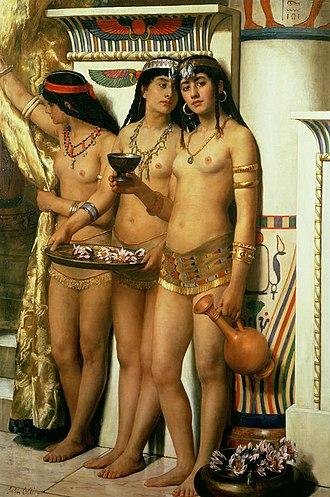 Handmaiden - The Pharaoh's Handmaidens by John Collier