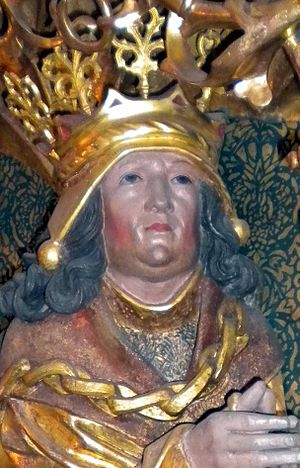 John, King of Denmark - Sculpture of King John from altarpiece by Claus Berg  (c. 1530) St. Canute's Cathedral, Odense