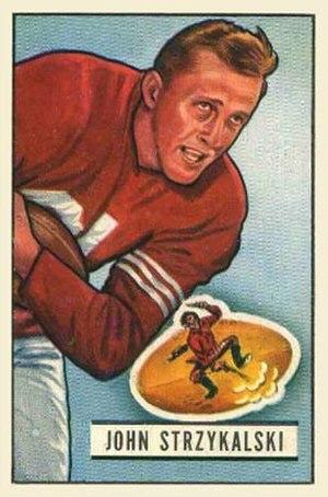 Johnny Strzykalski - Strzykalski on a 1951 Bowman football card