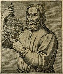 John of Holywood (Johannes de Sacrobosco). Line engraving, 1 Wellcome V0003118.jpg