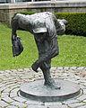 Johnny Podres HOF bronze sculpture 2014.jpg