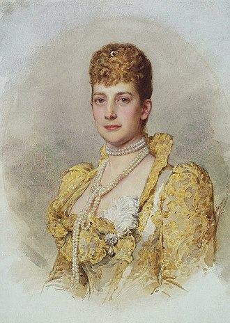 Josefine Swoboda - Queen Alexandra when Princess of Wales by Josefine Swoboda (watercolor, 1895)