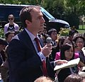 Journalist Andrew Beatty, White House Rose Garden, April 2015.jpg