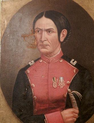 Juana Azurduy de Padilla - Portrait of Juana Azurduy, circa 1857