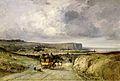 Jules Achille Noël - L'Arrivee d'une Diligence au Tréport (1878).jpg