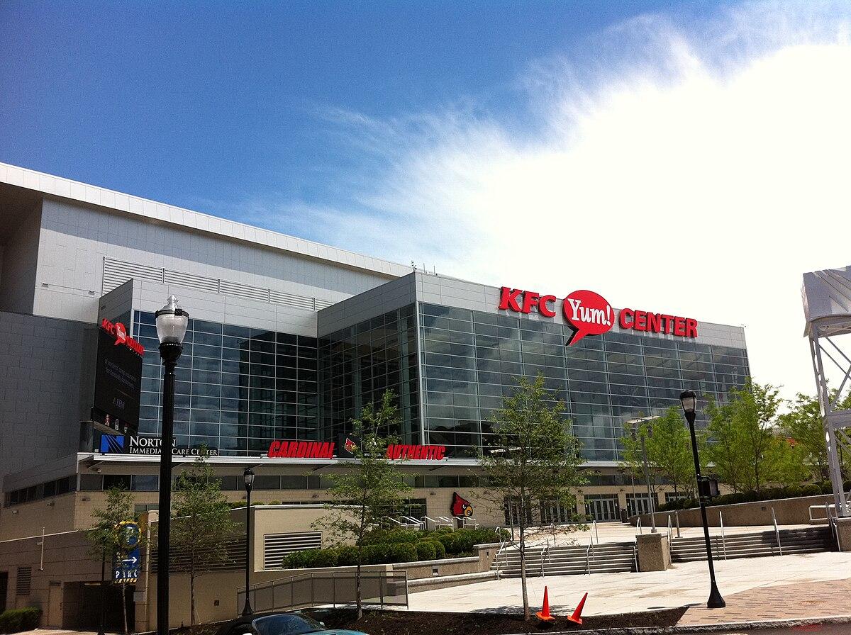 KFC Yum! Center - View from Section 312 - Row F - Seat 5 ... |Kfc Yum Arena