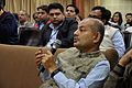 KP Bandyopadhyay Asks Question - Iain Stewart Lecture on Communicating Geoscience through the Popular Media - NCSM - Kolkata 2016-01-25 9436.JPG