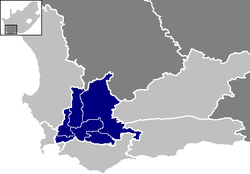 Ligging Cape Winelands District Municipality