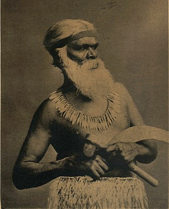 Framlingham, Victoria - Kaawirn Kuunawarn (Hissing Swan), also known as King David, Chief of the Kirrae Wuurong, who lived in Framlingham from 1865 until his death in 1889.