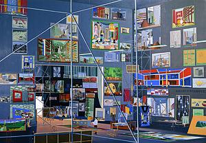Thomas Huber (artist) - Das Kabinett der Bilder, 2004, Oil on canvas, 250 x 360 cm, Aargauer Kunsthaus in Aarau, TH-2004-B-01