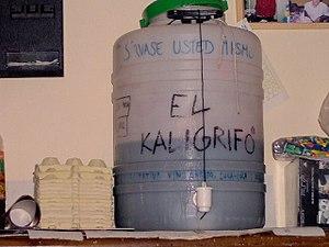 Kalimotxo - A self-service drum of kalimotxo on tap