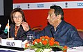 Kamal Nath and the Russian Minister for Economic Development and Trade, Mrs. Elvira S. Nabiullina at the Joint Press Conference on the concluding session of the India-Russia Forum on Trade and Investment, in New Delhi.jpg