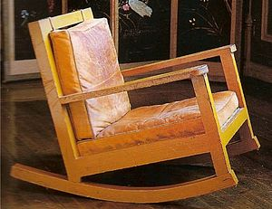 Rocking chair - A rocking chair designed by Swedish painter and furniture designer, Karin Bergöö Larsson