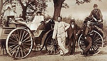 Karl Benz (1844–1929) with his family