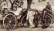 Karl Benz (1844–1929) mit seiner Familie