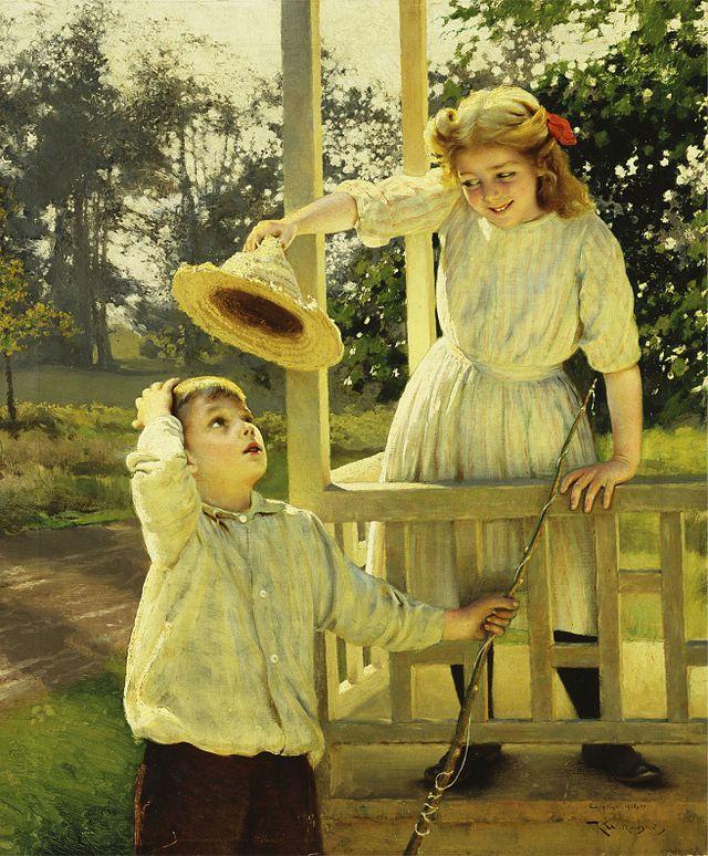 Karl Witkowski - The Flirt, 1910.jpg