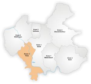 Töss - Image: Karte Winterthur Stadtkreis 4