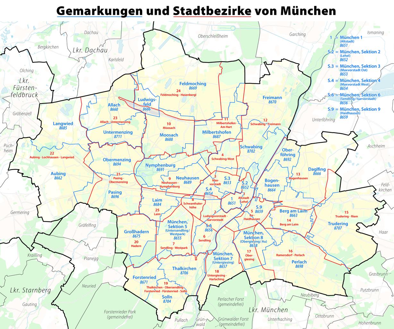 S Bahn Karte München.File Karte Der Gemarkungen Und Stadtbezirke In München Png