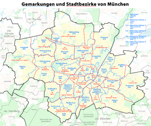 Liste Der Stadtteile Munchens Wikipedia