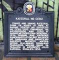 Katedral ng Cebu NHCP Historical Marker.png