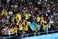 Kazakhstan cheering at boxing 2018 YOG 07.jpg