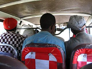 Matatu public transportation minibuses in Kenya