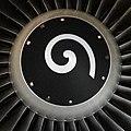 Kiefer Lufthansa Airbus A320 D-AIUD Triebwerk (13685617874).jpg
