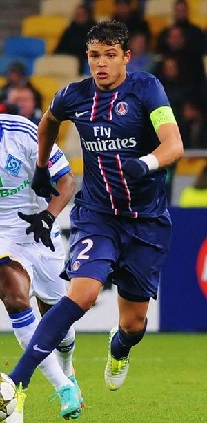 Thiago Silva - Silva playing for Paris Saint-Germain in 2013