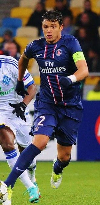 Thiago Silva - Silva playing for Paris Saint-Germain in 2013