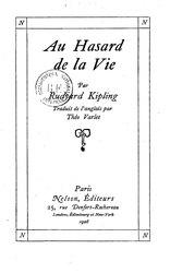 Rudyard Kipling: Au hasard de la vie