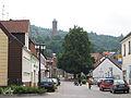 Kirkel Ortszentrum Blick auf Burg 01.JPG