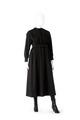 Klänning av svart ylletyg tillhörande Wilhelmina von Hallwyl - Hallwylska museet - 89316.tif