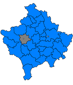 Location of Klina / KlinëКлина / Klina