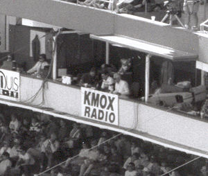KMOX - Buck and Shannon announcing Cardinals game at Busch, 1992