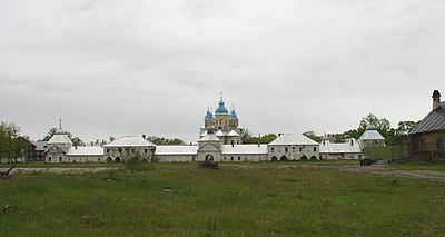 Konevets Monastery from east