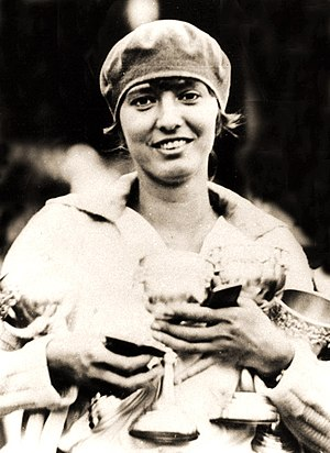 1930 Women's World Games -  Halina Konopacka, winner of the discus event