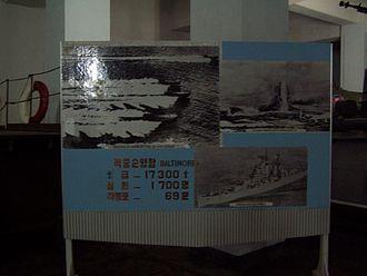 USS Baltimore (CA-68) - Image: Korean War NK TB1