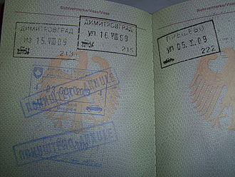 2008 Kosovo declaration of independence - Kosovo passport stamps cancelled by Serbian passport control police to demonstrate its non-recognition of Kosovo's secession.