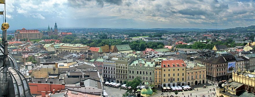 View of Krakow from St. Mary's Basilica in the Market Square Krakow 239a.jpg