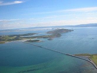 Fosen - The Kråkvåg bridge connecting the two islands Storfosna and Kråkvåg, Ørland municipality.