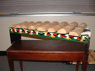 Xylophone - Kulintang a Kayo, a Philippine xylophone
