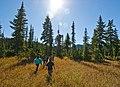 Kulshan Creek Youth Program - Walking through Schriebers Meadow, Mt Baker Snoqualmie National Forest (32073007096).jpg