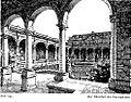 Kunstpalast in Düsseldorf, erbaut für die Industrie- und Gewerbeausstellung Düsseldorf im Jahr 1902, Grundriss Entwurf Albrecht Bender, Fassade Entwurf Eugen Rückgauer, Ehrenhof.jpg