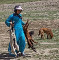 Kurdish nomad girl with lambs.jpg