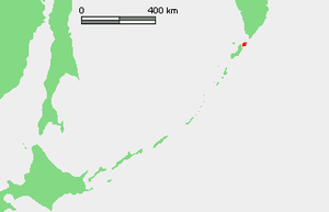 Battle of Shumshu - Location of Shumshu in the Kuril Islands.