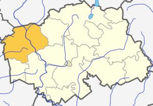 Kvėdarna - Image: Kvedarnos seniunija (Silales rajono zemelapis)