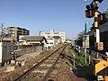 Kyudai Main Line on east side of Mii Station (west).jpg