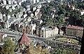 Látkép a Zerge szobor közeléből, jobbra a Divadelní tér, balra a Szent Mária-Magdaléna-templom. Fortepan 51288.jpg