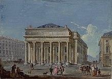 Der 1783 eingeweihte Neubau der Comédie-Italienne (Jean-Baptiste Lallemand). (Quelle: Wikimedia)